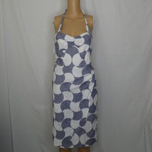 Trina Turk Faux Wrap Mod Halter Geometric Dress 2